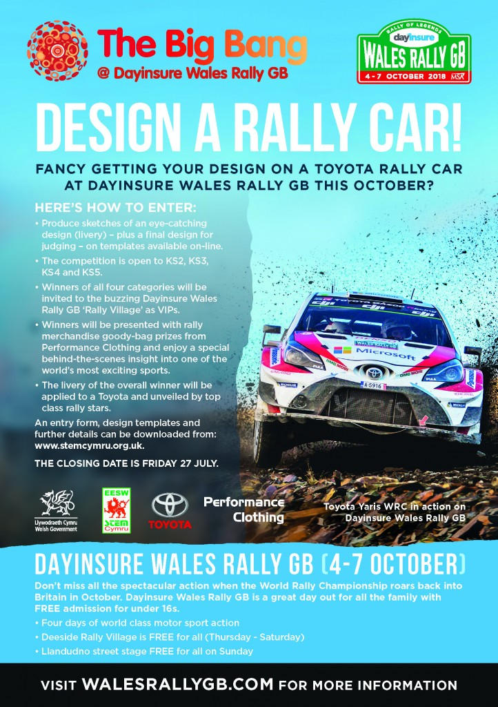Dayinsure Wales Rally GB Competition for Schools 2018